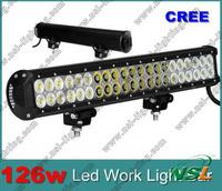 126W offrroad truck led work light bar led work light offroad 10-30V car spot flood