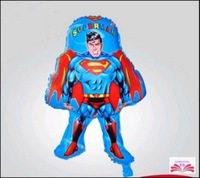 2014 Hot Toys Superman foil balloon children like Superman aluminum positive energy a pack of five helium balloons