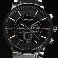 2014 new curren ultrl big dial retro fashion design luxury full steel stainless men male wrist quartz watch 4195