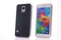 Luxury Aluminum Metal Carbon Fiber Hard Case Cover For Samsung Galaxy S5 S V i9600