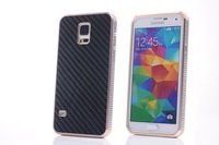 Luxury Aluminum Metal Carbon Fiber Hard Case Cover For Samsung Galaxy S5 S V i9600