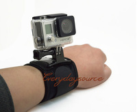 Wrist Strap Mount, Arm Strap Mount 360Degree Wrist Strap + Screw for GoPro Hero Hero 3+/3/2/1 Go Pro Accessories Camera