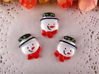 2014 kawaii christmas snowman resins crafts flatback for hair bows hairbows flat back resins 50pcs/lot  WQ14062803