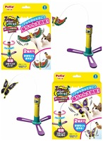 NEW  cat electric and manual funny cat stick fluttering butterfly and bird cat toys