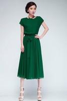 2014 New Summer Bohemian Women Chiffon Ankle-Length Long Dresses Sleeveless Vest Dress Vestidos.