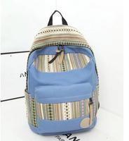 HOT! Vintage bag striped Ethnic wind women Backpack Students School Bag Travel Bag shoulder bags