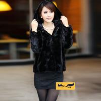 Big Sale Top Quality! Women Genuine Mink Fur Coats Jackets with Hood Natural Fashion Women's Fur Vest Outerwear Slim Short Style