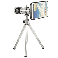 Telephoto Lens Kit Phone Camera Zoom 12X + Aluminum Tripod + Case Cover Pouch for Samsung Galaxy Note2 II N7100