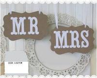 2014 vintage MR/MRS wedding photo props decoration /Wedding Chair banner /Wedding sign /Party Decorations-Free Shipping
