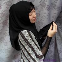 OUMEINA RG muslim fashion head scarf,peach chiffon plain dyed 2 colorways RG019