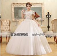 2014 New Arrival Strapless Simple Sweety Princess Wedding Dress K79