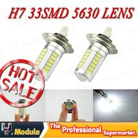 2x H7 LED smd 5630 h7 33 smd high power 33smd White Fog Driving Head Light Lamp Bulb #YNJ41
