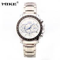 New Design MIKE Branded Design Men All steel Watches, Luxury Motor Sports Leisure High-End Men's Waterproof Quartz Watch