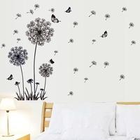 1 set/lot New 2014 plant Dandelion wall sticker flowers background wallpaper bedroom & livingroom wall decoration free shipping