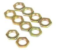 Lots 10 Pcs Fine tooth thin nuts Hex flat nut M8X1 M10X1 M12X1.25 M14 M16 M18 M20 M22 M24