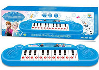 Retail Frozen Electronic Piano Keyboards Music 13 keys Cartoon Toys for Children Baby Playing Learning Educational Elsa Blue