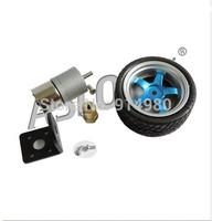 310-7.8kg.cm Toy Model 6V 153RPM Geared Motor Smart Car Kit - gear motor + bracket + coupling + wheels, toys, model aircraft