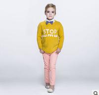 2014 new autunm girls long dress kids wool dress girls fashion clothes big brand