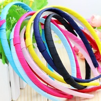 3/8'' Free shipping Ribbon 10 color mixed headband headwear hairbands bow diy decoration wholesale OEM H2569