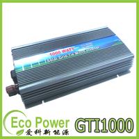 CE Approved IP23 indoor design 1000W On grid tie inverter pure sine wave DC10.5-28V to AC90V-140/180~260V  for Solar Panel