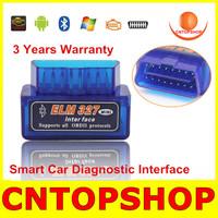 Universal Mini 327 Obd2 Bluetooth Code Reader V2.1 Version Software V1.5 Hardware Double Colors Support  Multi -Car Brands