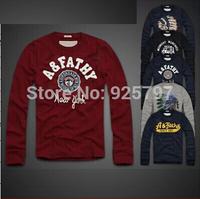 New 2014 Fashion Men's Short Sleeve Cotton t Shirt abercr for ombie men Men's Camisetas Masculinas Brand Slim T Shirt For Men