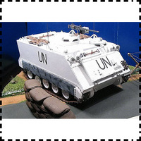 The personnel carriers peacekeepers coating paper M113 apc model 1:25.734 DIY craft military model toys collection gift
