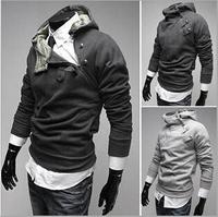 Long sleeve zipper sweatshirt men, Sport suit hoodies men,  M/L/XL/XXL/3XL, white, black, coffee, light grey, dark grey,