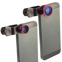 Clip 180 Degree Fish Eye Lens Wide Angle Micro Lens Kit for iPhone 4 4S 4G 5 5G 5S Samsung Galaxy S3 i9300 S4 i9500 cell phone