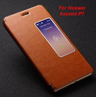 Huawei Ascend P7 case,Fetron Brand Genuine leather back cover case for Huawei Ascend P7 with screen protector