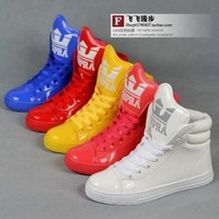 Men's and Women high-top shoes big tongue fluorescent candy colored fashion casual shoes