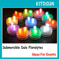 10/blister box  Dual Multi-color  LED Waterproof Floralyte lights for Festival