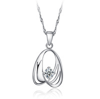 Free shipping! retail Stylish design 925 silver pendant with zirconia for woman flower pendant YDN-JDX096