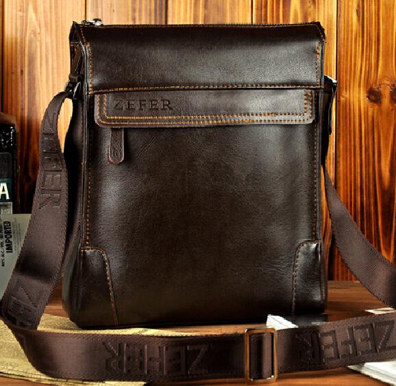 2015 Man messenger bag men genuine leather handbag men's travel bags business shoulder bag casual ipad leather bag drop shipping(China (Mainland))