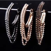 18K Rhinestone earring jewelry R2016