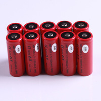 10PCS Free Shipping AW IMR 18500 1100mah 3.7V lithium Rechargable battery for Ecig Mods !button Top
