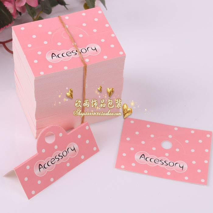 Free shipping 2000pcs/lot Child hair accessory packaging paper card diy hair clips packing cards jewelry/price tag/hairpin cards(China (Mainland))
