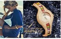 Luxury Rhinestone Dress Watch for Women Full Crystals Bracelet Bangle Clock Brand Imported Quartz Timepiece Sapphire 3ATM NW1489