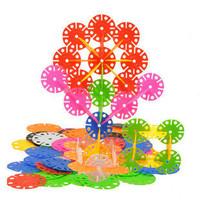 Free shipping Colorful Plastic Snowflake Blocks Educational Intelligence toy