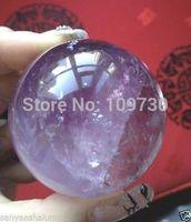 001044 Natural Amethyst Quartz Crystal Sphere Ball Healing Stone 40mm + Stand