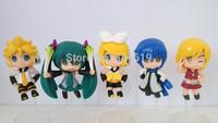 free shipping animation model Hatsune Miku figure 5 pcs a lot bishoujo figures cute mini cartoon shallot anime