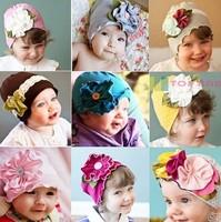 2014 New Floral Hot Sales! Fashion Big Flower Baby Hat Newborn Photography Props Beanie 100% Cotton Pocket Winter Accessories