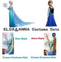 Cosplay Frozen Accessories Fashion Frozen Crown+Magic Wand+HairBand+Hairpiece Girls Wig Cute Girls Frozen Party Ornaments n040