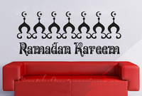 Ramadan Cresent islamic design Home stickers wall decor art Vinyl Muslim designs No158 72*165cm