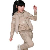 Girls in autumn 2014 new kids girls three piece girl clothing female children sportswear suit