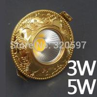 factory price 20pcs/lot 3W 5w Europe COB ceiling lights 85~100LM/W AC85~265V wholesale diameter 100cm cut size 70-75cm wholesale