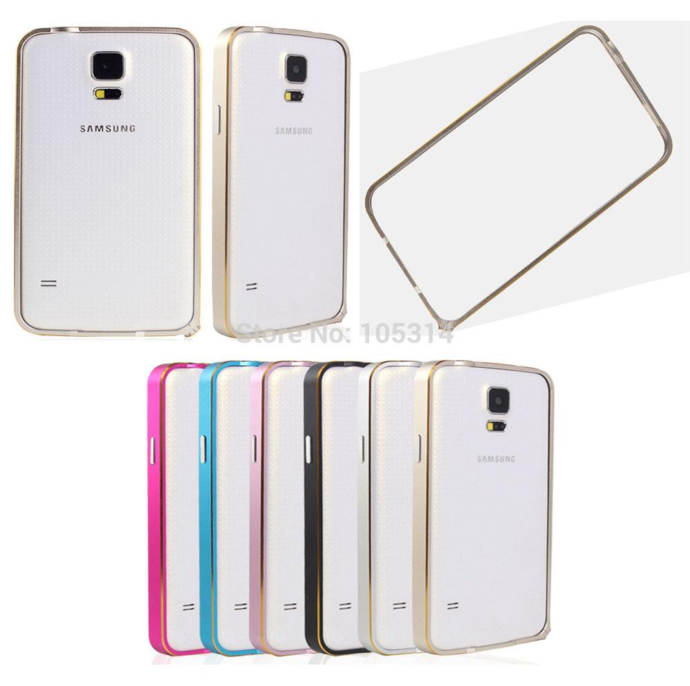 Newest Ultra thin Slim Aluminium Metal Gold Rim Bumper Case Frame For Samsung Galaxy S5 i9600 Fashion Mobile Phone Case Bumper(China (Mainland))