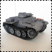 The German tanks no. 1 F type I light tanks paper model tanks world 25 ashkenazi DIY craft military model toys collection gift