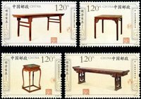 History Culture Arts stamps  , The Ming And Qing Dynasties Furniture 100% New For Collecting China Postage Stamps