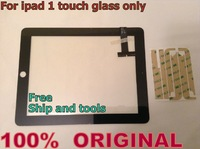 100% ORIGINAL Black for Apple iPad 1 1st Gen Wifi 3G Digitizer Glass Front Touch Panel Screen Replacement Free Ship and tools